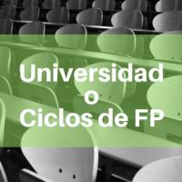 Universidad o Ciclos de FP